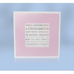 SO 320 - Čtvercová karta s barevným rámem