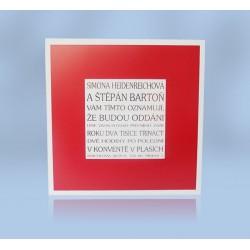 SO 320b - Čtvercová karta s barevným rámem