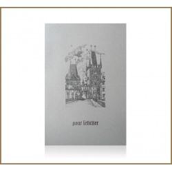 Novoroční přání - Praha, mostecké věžě