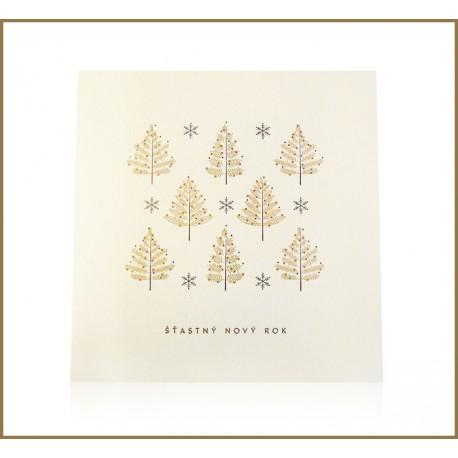Novoroční přání - Stromky